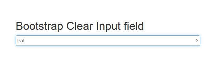 Bootstrap Clear Input Field Bijudesigner