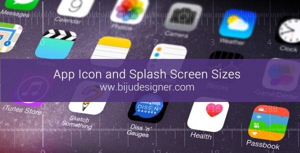 App Icon and Splash Screen Sizes