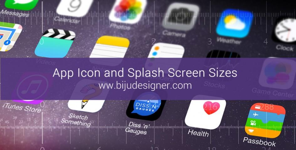 App Icon and Splash Screen Sizes