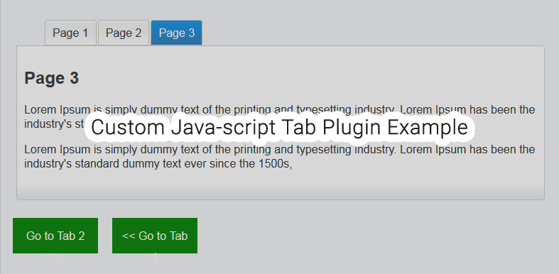 Simple javascript tab with next and previous option, on